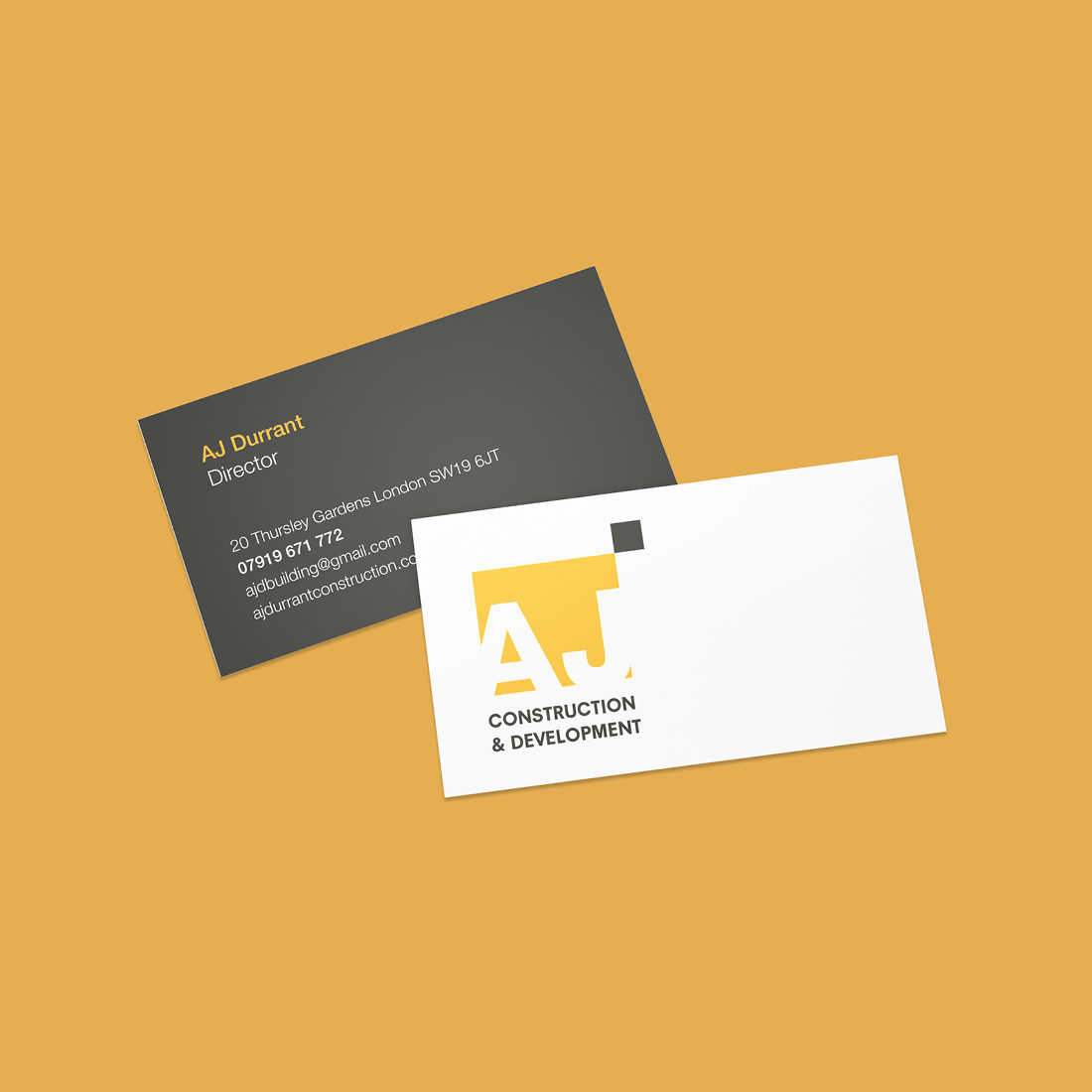 AJ Durrant Business Cards